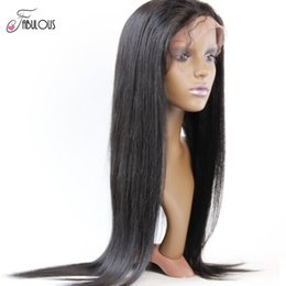 Natural Hairline Human Hair Full Lace Wigs Indian Remy Glueless Lace Front Wigs Natural Color with baby hair for black women