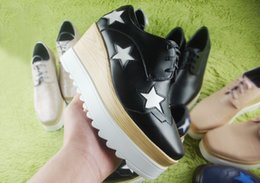 Wholesale 2016 new start stella woos wedges platform shoes platform single shoes single shoes women s Increasing women high heeled