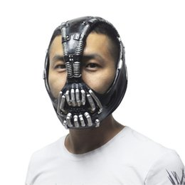 Wholesale The Dark Knight Batman Movie Cosplay Prop Bane Latex Masks Adult Party Masquerade Silicone Rubber Party Face Mask for Halloween