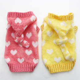 Wholesale New Arrival Dog Cat sweater Jumper Loves design Pet Puppy Coat Jacket Warm Clothes apparel size