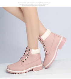 Wholesale A billing tooling boots flat head shoes fall winter boots women women s plus size casual Martin boots women short boots