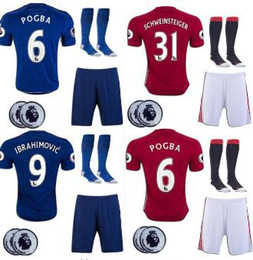 Wholesale best thai quality MancHESTER IBRAHIMOVIC Pogba Rugby jerseys AWAY BLUE ROONEY MEMPHIS MARTIAL unITED ball SHIRT