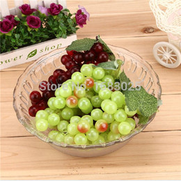 Wholesale Hot Sale Bunch Lifelike Home Office Decoration Colorful Artificial Plastic Fruit Grapes Cluster Two Colors Official Party