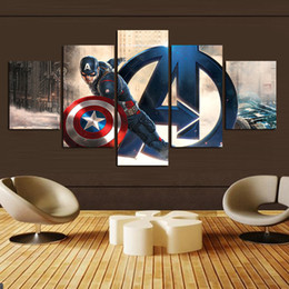 5 Panel Artwork Canvas Painting Wall Art Canvas Paintings For Living Room Wall Cuadros For The Avengers Canvas Prints Photo Frame