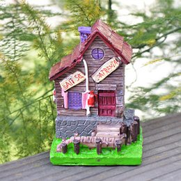 Hotsale 4designs villa house dollhouse fairy garden miniatures gnomes moss terrariums resin craft for diy home decorations accessories
