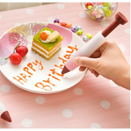 Wholesale 200pcs Cute Pastry Cream Chocolate Decorating Syringe Silicone Plate Paint Pen Cake Cookie Best Selling ZA0381