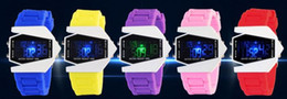 Wholesale LED silicone watch men digital led wrist watch sports airplane design jelly silicone led watch