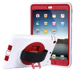 Wholesale For Ipad Air Case For Ipad Air case Candy color Red PC TPU Popular candy color proofing the protection shell customized processing