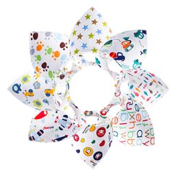 Wholesale 2016 Baby triangular bandage saliva towel bib Double cotton Bandana Bavoirs Equipment Bib waterproof feeding bibs
