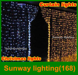 Wholesale Curtain lights christmas lights m m m m m m led lights Christmas ornament lights Flash Colored Fairy wedding Decor