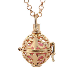 Wholesale The Mexico Bola pendant Necklace Harmony Ball Necklace for Pregnant Women Prenatal Education Necklace Bell Pendant300478