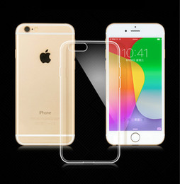 0.5mm Ultra-thin Transparent Clear Crystal Gel Case For Iphone 6 6s plus 5 5s 4s Soft TPU Cases Cover for Samsung galaxy s6 s7 edge