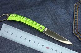 Top quality China Brand Wolf Small fold blade knife 440C 56HRC Mirror polish finish blade Key knife EDC pocket folding knives Green