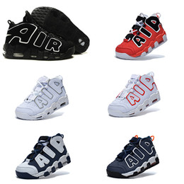 Wholesale 2016 AIR More Uptempo Scottie Pippen Basketball Shoes For Lover Fashion Best Price black white Top Quality Athletic Sport Sneakers Eur