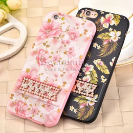 Wholesale Multipattern TPU PC transparent cover with metal kickstand for iphone s plus injectiong molding punch D relief print OPP BAG