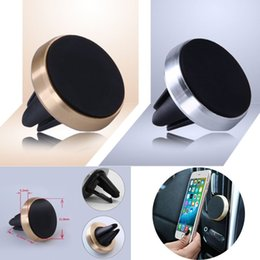 Wholesale Universal Magnetic Mobile Car Phone Holder For iPhone Samsung Galaxy Grand Prime Aluminum Silicone Car Air Vent Stand Mount
