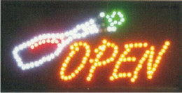 2016 new arrival Semi-outdoor 10x19 Inch Led Neon flashing Signs for bar store open led billboards Wholesale
