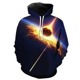 Free Shipping US Size M-5XL High Quality New Fashion Casual Hoodie Sky 3D Digital Printing Slim Hooded Sweatshirt Sweater