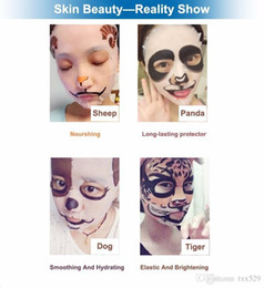 Wholesale New Skin Care Sheep Panda Dog Tiger Packing Facial Mask Moisturizing Oil Control Cute Animal Face Masks DHL Free shopping