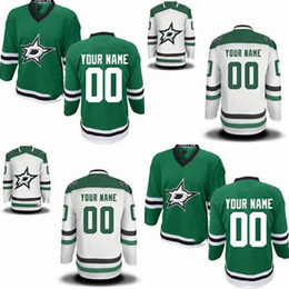 Hot Sale Customized Dallas Star New Style Green White Ice Hockey Jerseys 2014 Sewing On Best Jerseys Customized Your Own Name Number Jerse