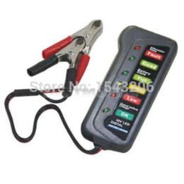 12V del coche auto de la batería del alternador de carga Pantalla 6 LED de luz de la batería probador digital indica la condición de la batería luz del punto desde las luces de carga proveedores