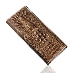 Wholesale Star Crocodile Purse - New Genuine Leather Wallets Brand Women' Wallets Crocodile 3D Purse Women's Clutches Fashion Leather Wallets 1357