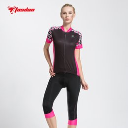 Tasdan 2016 cycling clothing cycling jersey Cycling 3 4 Pants Breathable Sports Short Sleeve Women's Cycling Jersey Set