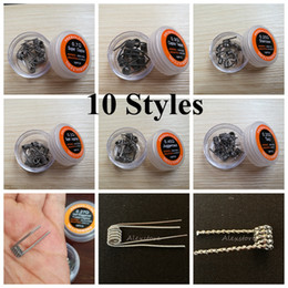 Wholesale Super Juggernaut Half Staggered Fused Staircase Taiji OPTIMUS PRIME PARALLEL Clapton Twisted Wire Premade Wrap Wires Prebuilt Coils for Vape