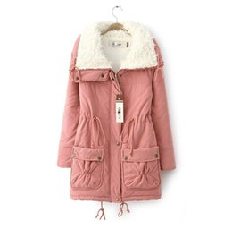 New Fashion Women jackets Turn Down Collar Thicken jacket coat Warm Slim Winter women Coat manteau femme Lambs wool cotton-padded clothes