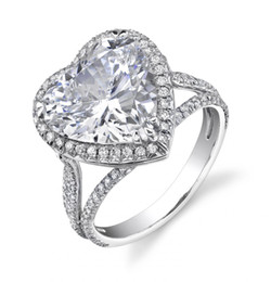 Wholesale 18 GIA Certified Heart Shape Diamond Ladies Beautiful Engagement Ring