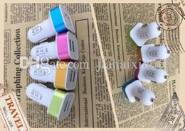 Wholesale Dual usb car charger port usb with colorful frame charge for ipad iphone samsung samrtphone mp3 mp4 in good quality new model