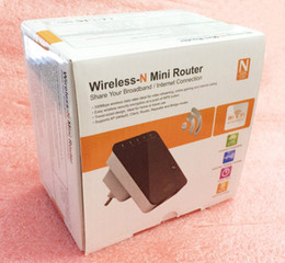 Wholesale 300Mbps b g n Wireless Mini Router WiFI AP Repeater Booster Expander two Interface high quality