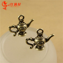 Wholesale A1492 MM Antique Bronze Retro love teapot charm beads jewelry pendant mobile phone fashion jewelry ethnic charms for necklaces