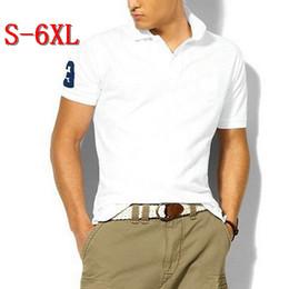 Wholesale Big Size S XL Polo Shirt Men Big Horse Camisa Solid Short Sleeve Summer Casual Camisas Polo Mens