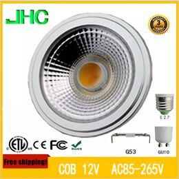 Wholesale AC DC12V AC V LED AR111 W G53 GU10 equal to W high lumens QR111 high quality ES111 bulb spotlinght bulb PAR30