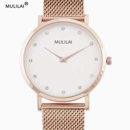 New MLL brand female stainless steel ladies fashion casual men's quartz watch ladies watch Relogio Feminino clock