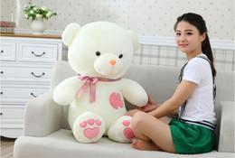 75 cm teddy bear plush toys wedding dolls press hold bear doll doll pillow birthday girl free shipping