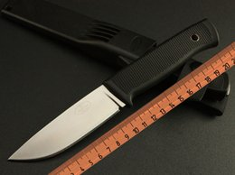 Wholesale Sweden Fallkniven Knives Air Force pilot survival knife F1 FK Fixed Blade hunting knives Cr13 Blade G10 handle With ABS Sheath one piece