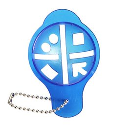 5pcs Blue Golf Ball Line Liner Marker Marks Template Alignment Tool Plastic Golf Ball Liner With a Key Chain