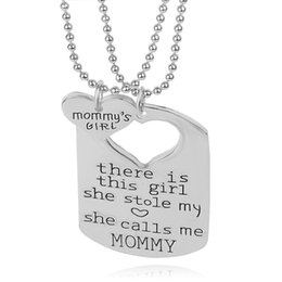 2016 father's day Heart in the Puzzle Pendant Necklace for Daddy Daughter Dad Father Girls Gift family vintage Jewelry Wholesale ZJ-0903598