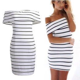 Summer Women Sexy Mini Strapless Bodycon Dress Party Club Striped Print Dress For Women
