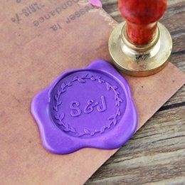 Wholesale Custom Initial Monogram Wax Seal Stamp personalized wedding wax seal