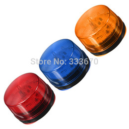 Wholesale 12V Red Blue Orange LED Beacon Warning Signal Light Alarm Lamp Spiral