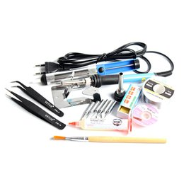 Wholesale 220V W Adjustable Temperature Electric Soldering Iron Solder Station With Iron Tip SMD Welding Repair Tool Kit