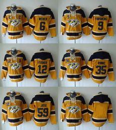 Wholesale NHL Nashville Predators hoodies cheap hockey jerseys hoody Sweatshirts WEBER FISHER JOSI RINNE FORSBERG yellow