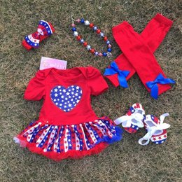 Wholesale 2016 hot baby Kids th of July Patriotic petticoat May Memorial day outfits with accessories baby girl fourth of july outfits