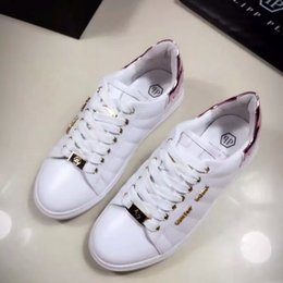 Wholesale PHILIPP P shoes leather shoes white skull Philip SHOES NEW