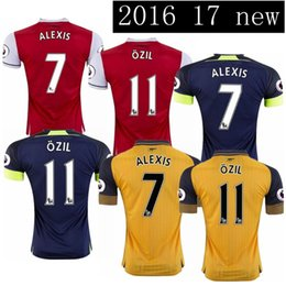 Wholesale TopThai jerseys Arsenal Soccer Jerseys football shirts ALEXIS WILSHERE GIROUD CHAMBERS OZIL ET