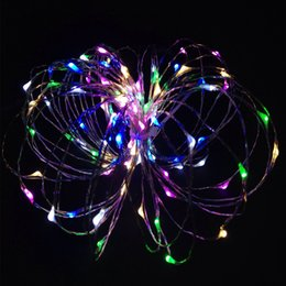 RGB 5M 50 led outdoor led copper wire string lights for christmas festival wedding party decoration