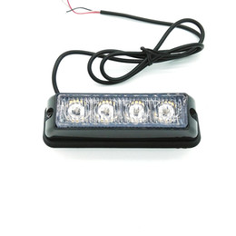 2PCS * 4 LED Car Truck Emergency Beacon Light Bar , LED Strobe light, motorcycle boat plain LED strobe light
